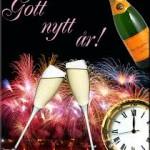 gott nytt år glas